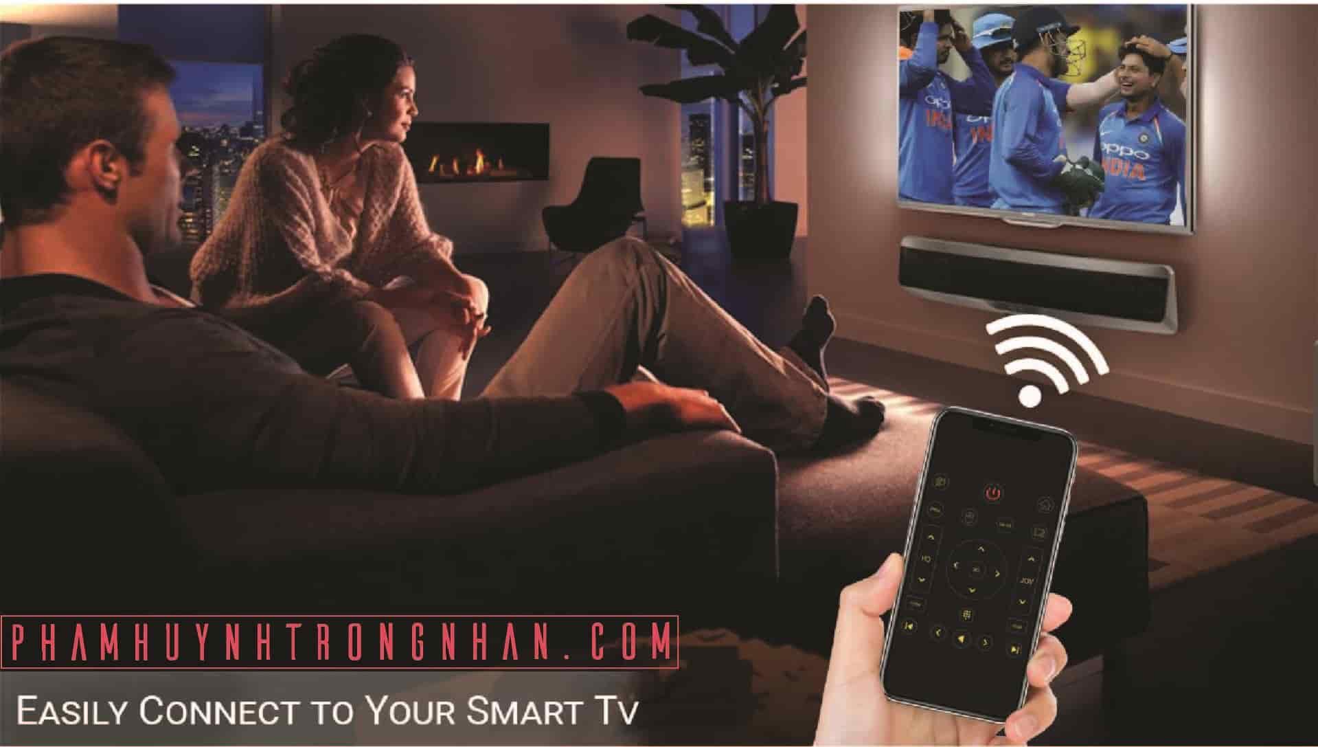 Điều khiển tivi sony, Samsung, TCL bằng điện thoại iphone qua internet với nhà thông minh