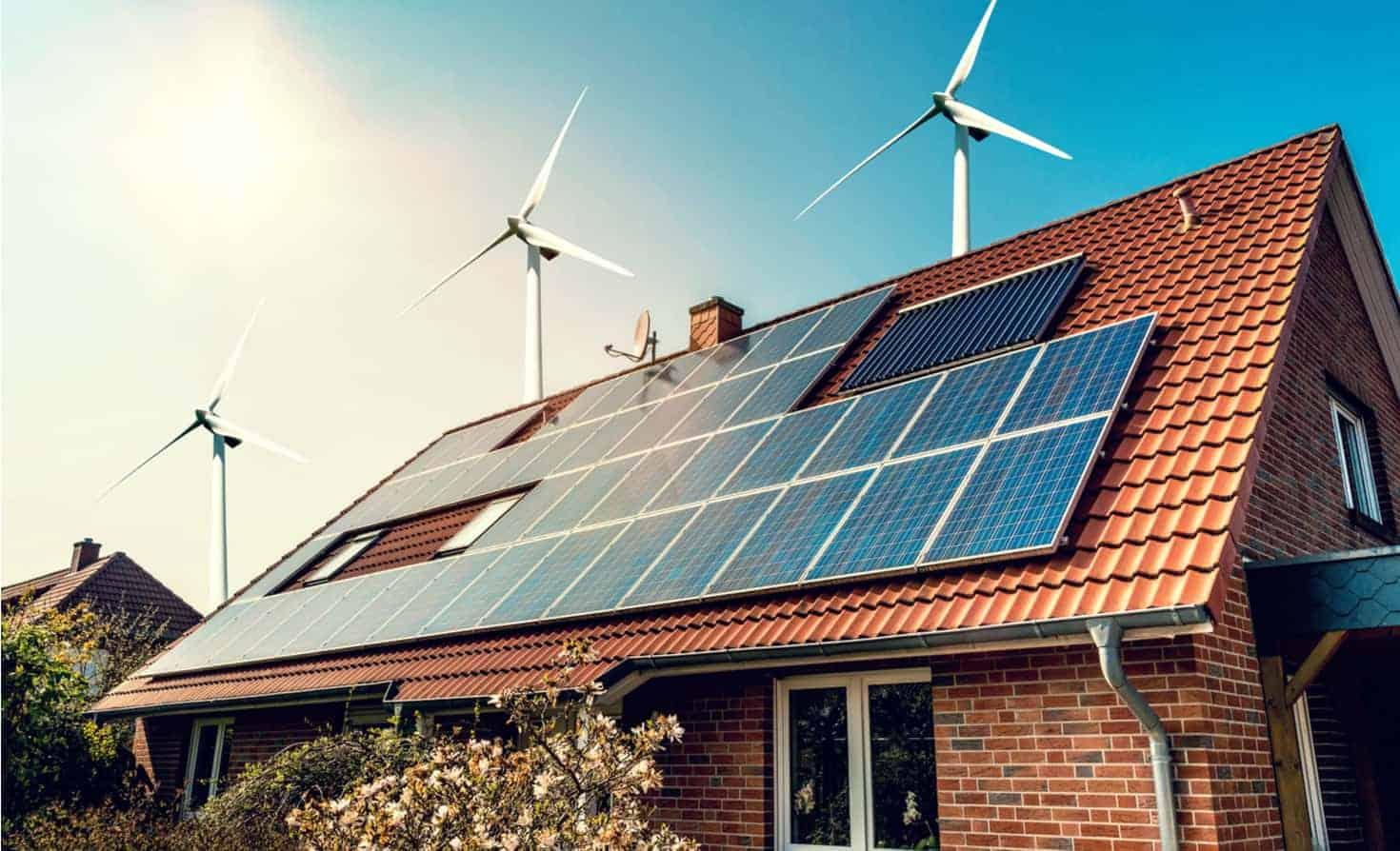 năng lượng mặt trời và gió