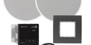 Eissound giải pháp âm thanh bluetooth âm tường cho cửa hàng shop khách sạn và căn hộ - màu đen